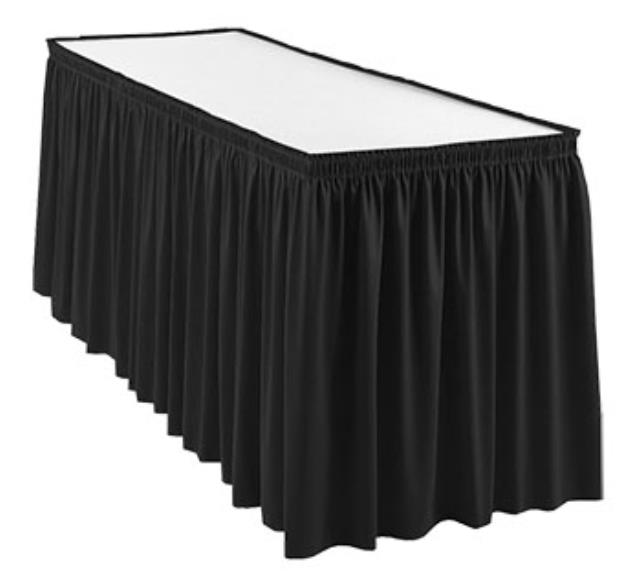 Where to find Table Skirt, Black in Shreveport