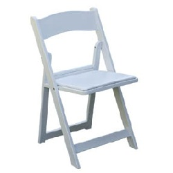 Where to find Chair, White Resin w  Pad in Shreveport