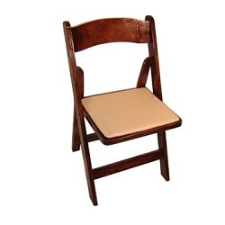 Where to find Chair, Mahogany Folding w  Pad in Shreveport