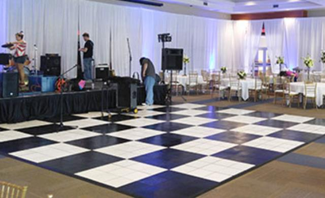 Where to find Dance Floor - Black   White 18  X 18 in Shreveport