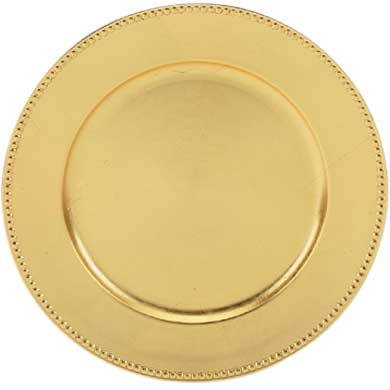 Where to find Plate, Gold Beaded Acrylic Charger in Shreveport