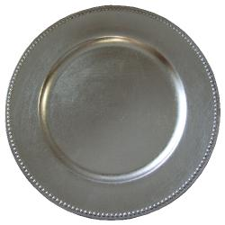Where to find Plate, Silver Beaded Acrylic Charger in Shreveport