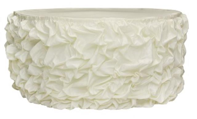 Where to find Gathered Table Skirt, Ivory-21 in Shreveport