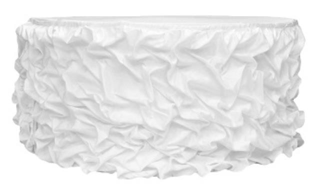 Where to find Gathered Table Skirt, White-21 in Shreveport