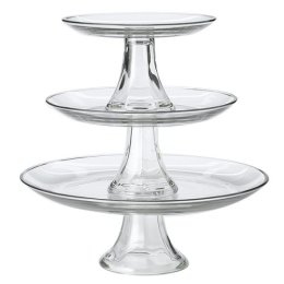 Where to find Tray, 3-Tier Glass in Shreveport