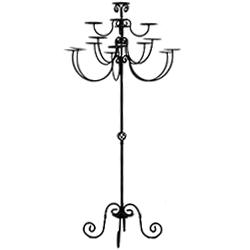 Where to find Candelabra, Iron Floor Chandelier in Shreveport