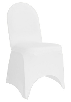 Where to find Spandex, White- Banquet Chair Cover in Shreveport