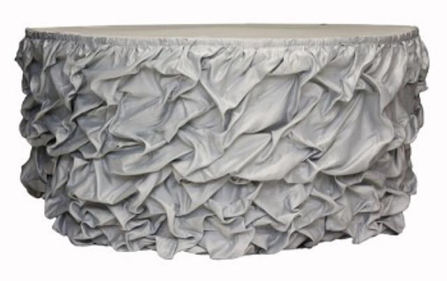 Where to find Gathered Table Skirt, Silver -21 in Shreveport