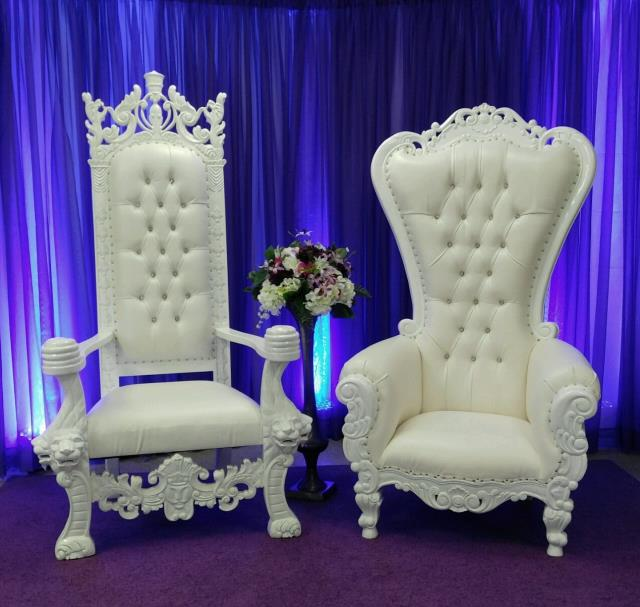 Where to find Chair, King and Queen Set - White Throne in Shreveport