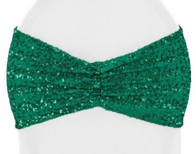 Where to find Spandex, Emerald Green Sequin - Sash in Shreveport