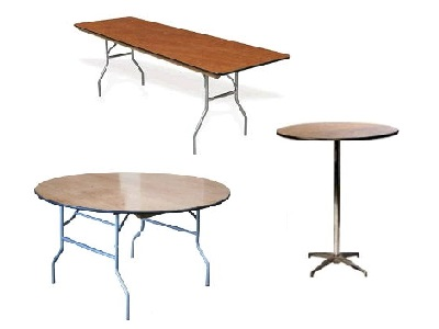 Table Rentals in Bossier City Louisiana, Shreveport, Minden LA, Red Chute LA, Marshall TX, Blanchard LA, Greenwood